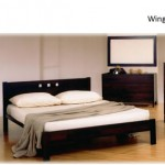 Wing bedroom set